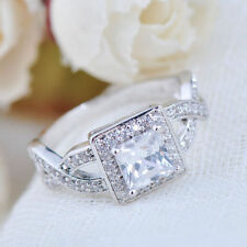 Topaz Solitaire with Accents White Gold Filled Fashion Rings