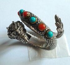 Anello Drago Dragon ring silver 925 vintage