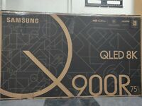 "Samsung QN75Q900 75"" 8K UHD QLED Smart TV please read full item description"