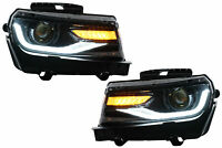 Headlights LED for Chevrolet Camaro 14-15 Sequential Dynamic Conversion to 16 Lo