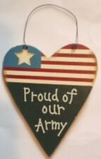 ARMY FLAG WOODEN SIGN WALL DECOR PLAQUE HOME DECOR ORNAMENT - NEW