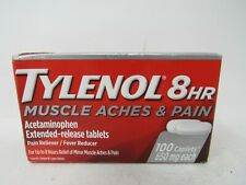 TYLENOL 8-HR 650 mg MUSCLE ACHES & PAIN 100 EXTENDED RELEASE CAPLETS