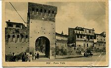 1932 Iesi Porta Valle bicicletta carrozza Guller dest. Foligno FP B/N VG ANIM