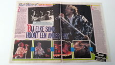 ROD STEWART 'on stage' 2 page ARTICLE/clipping from Joepie Belgian magazine