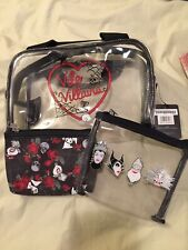 BioWorld Villains Cosmetic Bag Travel Clear Disney Úrsula Evil Queen New