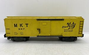Vintage American Flyer MTK 937 The Katy Yellow Box Car Model Train Railroad Toy