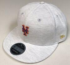 New Era Black Label 9Fifty New York Mets Gray, Leather Strapback Hat NY MLB NWT