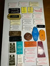 HUGE LOT OF 30 Motel Hotel Room Key Fobs Hawaii-Florida-CA-Iliinois-New York