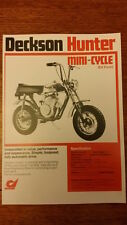 DECKSON HUNTER MINI BIKE POSTER REPRINTED ON GLOSSY A4 1970,s   Man Cave Poster.
