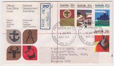 Stamps National Development set 4 on Official Fdc registered Canberra City