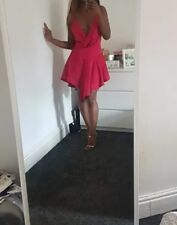 Sexy Red V-Neck Silk Dress comes in XS S M L XL