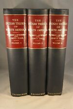 INDIAN TRIBES OF NORTH AMERICA 1933-34 in Three Voumes with 123 Color Plates