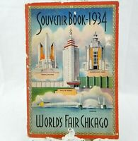 Vintage 1934 Chicago World's Fair Souvenir Book Pictures from the Fair in GUC!