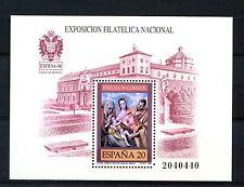 Sellos de España 1989 EXFILNA 89 hoja estampillada sin montar o nunca montada Nacional de exposición de sellos