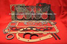 Willys Jeep Engine Overhaul Gasket Set. CJ2A CJ3A M38 MB Ford GPW L134 Flat Head