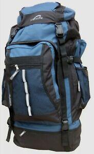 Metrolite Adventure Camping Hiking Festival Travel Rucksack Backpack 100L BLUE