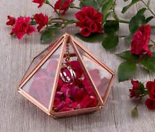 Wedding Ring Bearer Prism Box Pillow Alternative Holder Gold