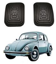 VW TYPE 1 2 3 BUG BEETLE GHIA BRAKE CLUTCH PEDAL RUBBER W LOGO 2pcs Brasilia