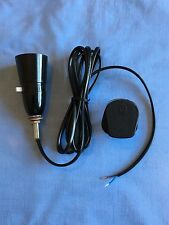 BLACK PRE-WIRED TABLE LAMP REWIRE KIT-PLASTIC/BAKELITE LOOK/DECO/RETRO STYLE