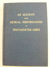 An Account of the Musical Performance Westminster-Abbey Handel HB Unused