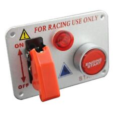 Racing Car Ignition Switch Panel Engine Start Push Button Red LED Toggle
