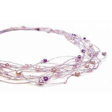 Necklace Stardust Swarovski Crystal & Freshwater Pearls/SemiPrecious Stones 42cm