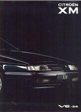 CITROEN XM V6.24 1990 French market PRESTIGE Sales Brochure