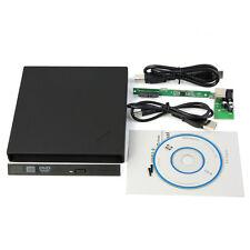 External USB2.0 Slim Case Enclosure 9.5mm SATA Laptop Tray CD DVD Drive Nice