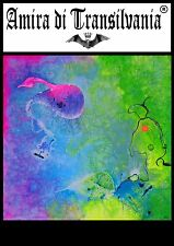 Abstract painting alien landscape space travel hallucinogenic plant fluorescent
