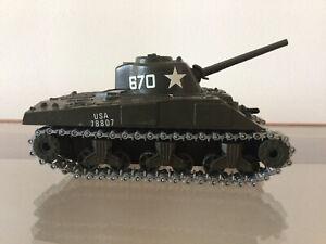 Vintage Solido - Sherman M4 A3 - Military Tank #231 toy model tank 1.50 Scale