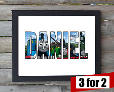 Thomas the Tank Engine and Friends Personalised Name Wall Hanging Print Picture