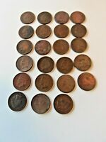 23 Indian Head One Cent Small Coins Pennies dated between 1880 & 1908