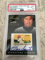 2012 Panini Signature Series Stamps Ron Santo Autograph PSA Graded 6.5 HOF Cubs