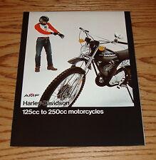 Original 1976 Harley Davidson 125cc to 250cc Foldout Sales Brochure 76