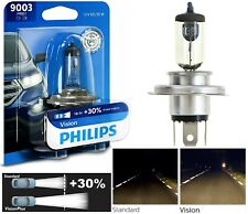 Philips VIsion 30% 9003 HB2 H4 60/55W One Bulb Head Light Replace High Low Beam