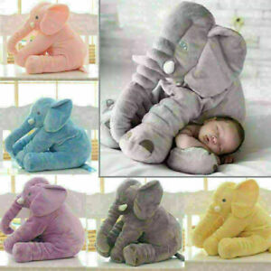 "UK 24""Large Soft Cute Pillow Plush Stuffed Elephant Animal Toy Kids Gift"