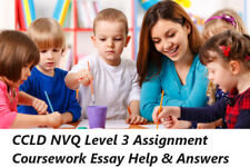 CCLD NVQ Level 3 Assignment Coursework Essay Help & Answers