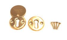ERA Keyhole Cover Plate Escutcheon for Mortice Lock with Brass Finish