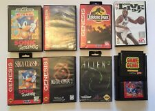 VINTAGE �� SEGA Gensis Game LOT: Boxes & Paperwork (Genie,Sonic,Jurassic,Mortal)