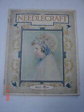 NEEDLECRAFT Magazine  May 1924 CONGOLEUM ART RUGS FELS - NAPTHA CREAM of WHEAT