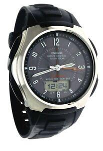 New Casio Watch WVA 430J Analog/Digi Wave Ceptor Atomic World T Touch Solar WR
