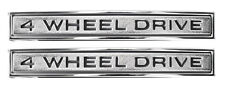 NEW 4 Wheel Drive Fender Emblem PAIR / FOR 1968-72 CHEVY TRUCK SUBURBAN K5 9840