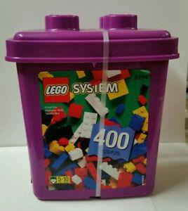 Vtg LEGO System 400 pc Purple Bucket Brick Set #2594 New Sealed 1998 NOS