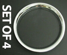 "New 13"" Chrome Beauty Trim Wheel Band Glamour Rings Steel Rim Set Of Four (Fits: Ford Tempo)"