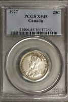 Canada 1927 25 Cents 25 C  PCGS XF 45