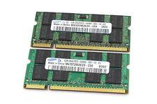 Samsung 2GB 2X 1GB DDR2 2RX8 PC2-5300S 667Mhz 200Pin RAM SODIMM Laptop Memory