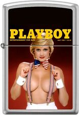 Zippo Playboy July 1985 Cover Satin Chrome Windproof Lighter NEW RARE
