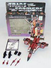 Vintage 1985 Hasbro G1 Transformers Thrust Complete With Box Used Original
