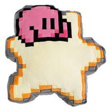 8-Bit Kirby on Warpstar 12in Pillow Cushion Kirby of the Stars Little Buddy Toy
