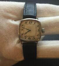 ASPREY London Art Deco 1920s Sterling Silver Watch Swiss Made For Service